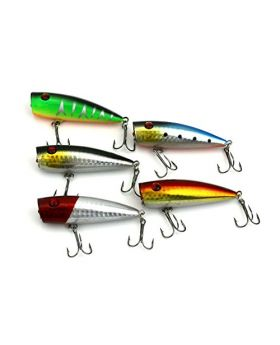 LENPABY 10pcs 9g 7cm Popper Topwater Floating crank fishing lures wobble bass fishing baits pesca fishing tackles