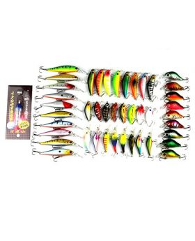 LENPABY 44pcs minnow fishing lures set crankbaits hard swimbaits