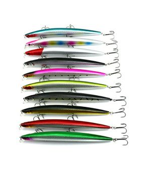 LENPABY 10pcs 18cm 26g hard diving big minnow fishing lures bass wobbler pike carp crappie catfish perch fishing baits