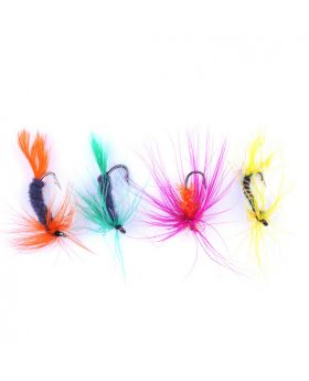 LENPABY 156g 96PCS bait Fly Fishing Dry Flies Lure Hooks Artificial Bugs Pack, Trout Bait Dry Fly Fishing fishing jigs Lures Kit with Case Box