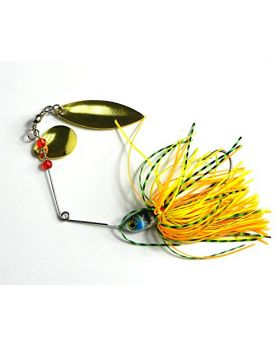 LENPABY 8pcs Buzzbait Spinner lead head fishing Bait Fishing Lures with Holographic Painted Blades for Bass Trout Pike fishing tackles 17.4g