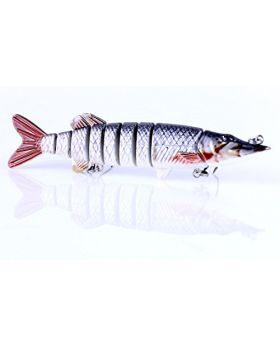 LENPABY 1pcs 12.7cm 20g hard mutil jointed minnow fishing lures wobbler pike carp trout perch catfish fishing baits